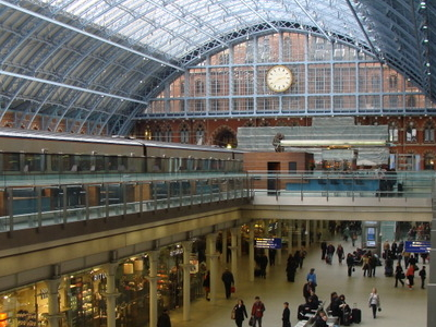 Interior Of St Pancras Railway Station