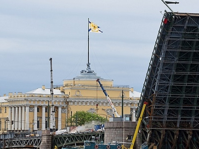 St. Petersburg Palace Bridge - Palace Square To Vasilievsky Island