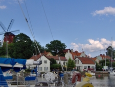Harbour And Old Windmill