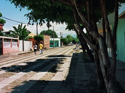 Street In A Residential Area Of The City