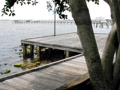 Stuart . Florida .riverwalk .before