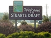 Stuarts  Draft Welcome Sign
