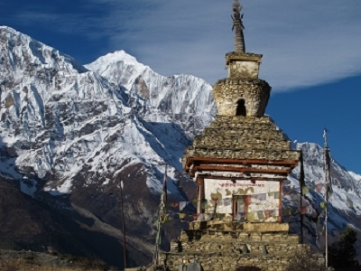 Stupa @ Gangapurna - Annapurna Conservation Area - Central Nepal