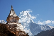 Stupa With Himalaya