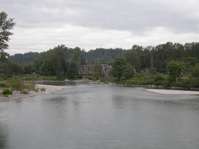 Sultan  2 C  W A    View Downriver From  Skykomish Bridge