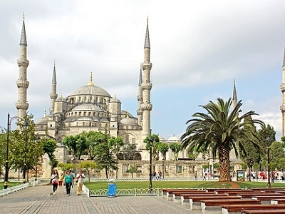 Sultan Ahmed Mosque At Istanbul
