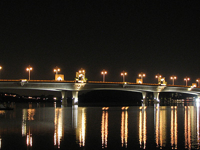 Sultan Mahmud Bridge At Night