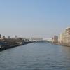 The Sumida River Flowing Through Adachi, Tokyo