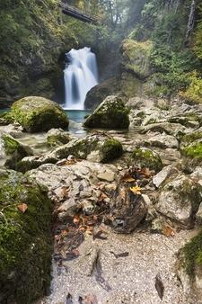 Sum Waterfall In Vintgar Gorge