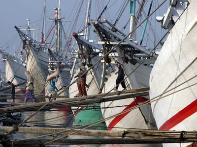 Pinisi Line Up At Sunda Kelapa
