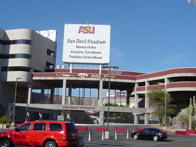 Sun Devil Stadium At The Southeast Entrance