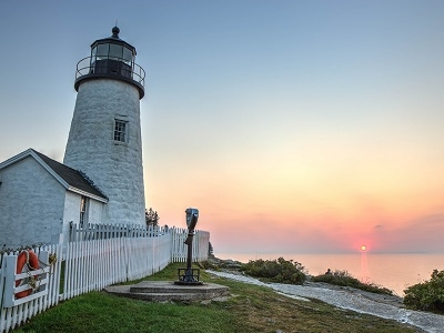 Sunrise At Pemaquid Point Lighthouse - Bristol Maine