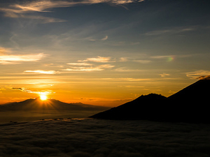 Sunrise Mount Batur Volcano Climbing