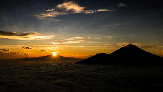 Sunrise Mount Batur Volcano Climbing Photos