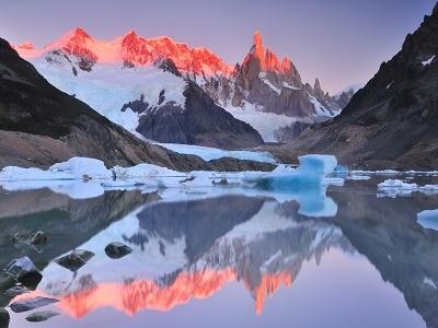 Sunrise Over Laguna Torre - El Chalten Argentina