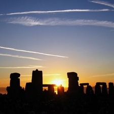 Sunrise Over Stonehenge On The Summer Solstice, 21 June 2005