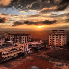 Sunset, As Seen From The Outskirts Of Manipal
