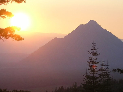 Sunset Over Black Butte