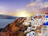 Sunset Over Santorini In Greece