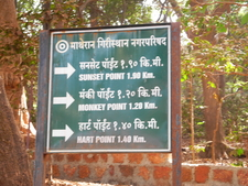 Sunset Point Trail Signpost - Matheran - Maharashtra - India
