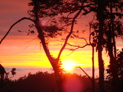 Sunset  Quepos  Tarrazu  Mountains  Costa  Rica  Pacific  Coast