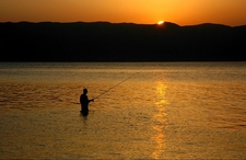 Sunset View Of Lake Ohrid