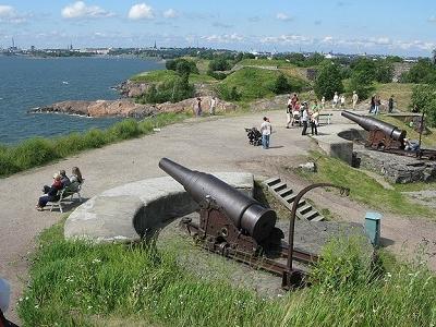 Suomenlinna Guarding Guns - Helsinki Finland