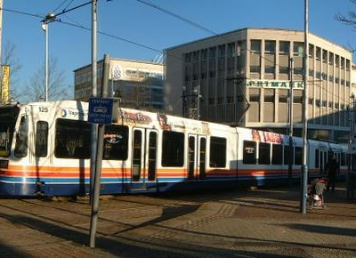 Sheffield Supertram At Castle Square