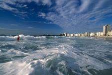 Surf At Copacabana Beach In Rio De Janeiro