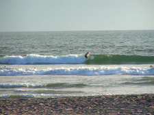 Surfers At Harbor Beach