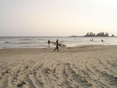 Surfeur, Chesterman Beach, Tofino