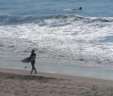 Surfing At Carlsbad Beach