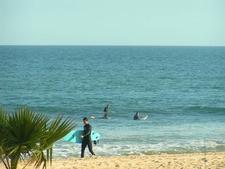 Surfing At Topanga Beach