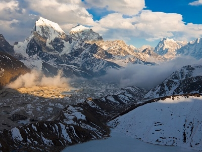 Surrounding Landscape With Dudh Pokhari Lake - Nepal Himalayas