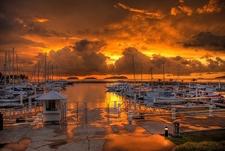 Sutera Harbour Sunset At Kota Kinabalu