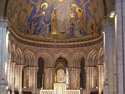 Interior View Of The Sacre Cœur