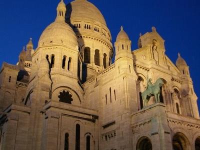 Basilique Du Sacre Cœur At Night