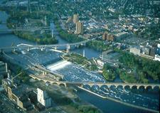 Saint Anthony Falls Aerial