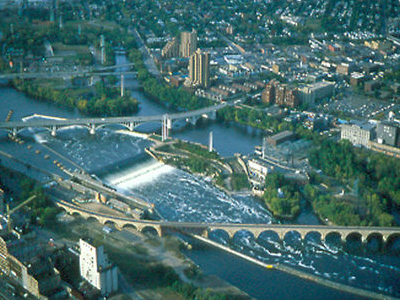 Saint  Anthony  Falls Aerial