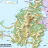 An Elevation Map Of The Island Of Saint Martin.