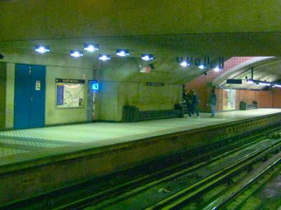 Saint Michel Metro Station Platform