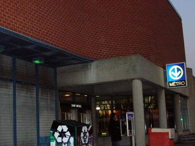 Saint Michel Metro Station Entrance