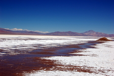 Maricunga Salt Flat With Copiapó Volcano