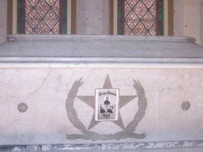 Burial Tomb Of Davy Crockett, William B. Travis And Jim Bowie