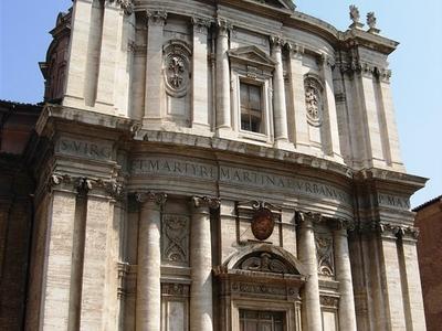 Santi Luca E Martina Facade