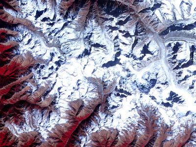 Satellite Image Of  Chorabari Glacier