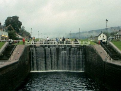 Locks On The Caledonian Canal At Fort Augustus