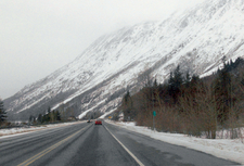 Wintertime View Of The Seward Highway