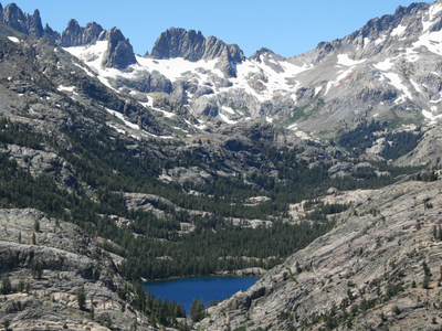Shadow  Lake From  High  Trail