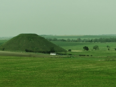 Silbuty  Hill From  West  Kennet